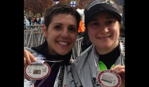 Teacher duo trains for upcoming marathon
