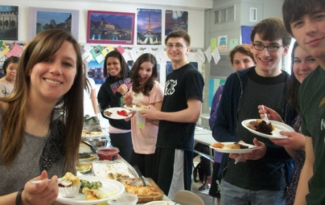 Foreign language students enjoy a food fiesta