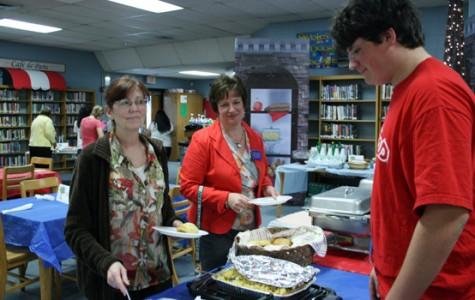 Students serve their teachers