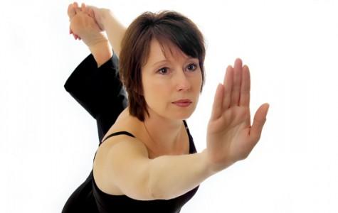 Grossmann practices yoga to maintain a healthy lifestyle